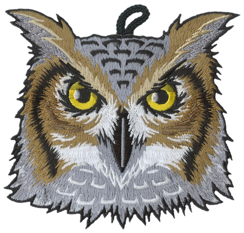 Wood Badge Patch of Wood Badge Owl Critter Head