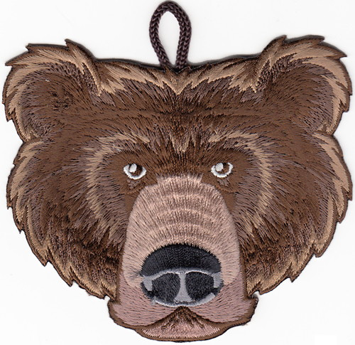 Wood Badge Patch of Wood Badge Bear Critter Head