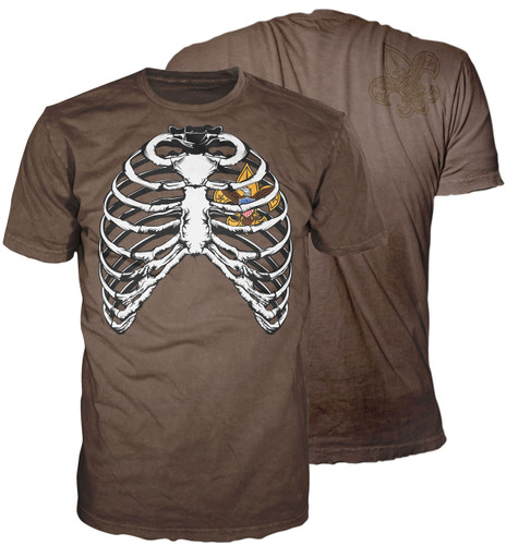 Scouts BSA Graphic Tee With BSA Rib Cage Design - Brown