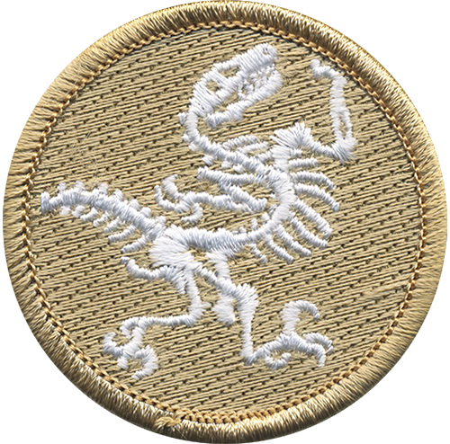Fossil Scout Patrol Patch - embroidered 2 inch round