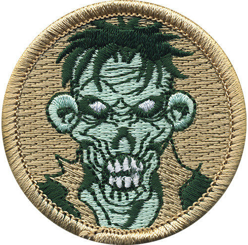 Zombie Scout Patrol Patch - embroidered 2 inch round