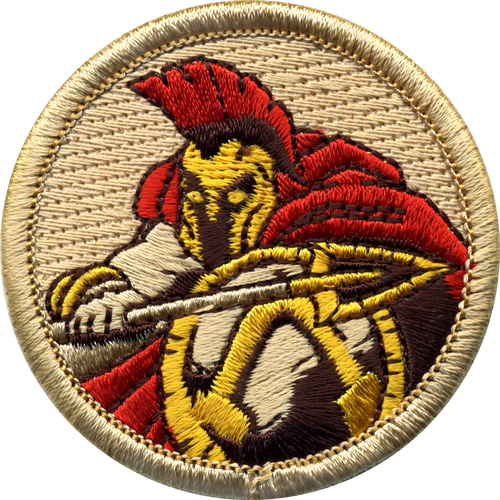 Spartan Scout Patrol Patch - embroidered 2 inch round