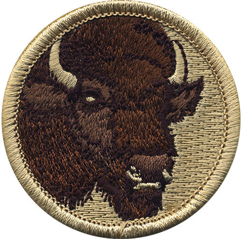 Buffalo Scout Patrol Patch - embroidered 2 inch round
