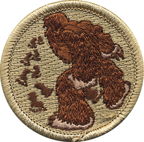 Bigfoot Scout Patrol Patch - embroidered 2 inch round