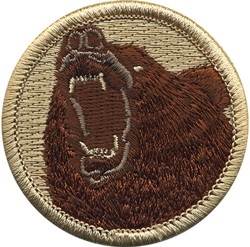 Bear Scout Patrol Patch - embroidered 2 inch round