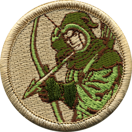 Archer Scout Patrol Patch - embroidered 2 inch round