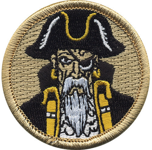 Pirate Scout Patrol Patch - embroidered 2 inch round