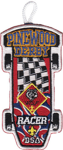 Wolf Racer Patch - with Flag Design