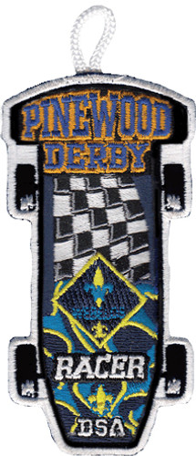 Webelos Racer Patch - with Flag Design