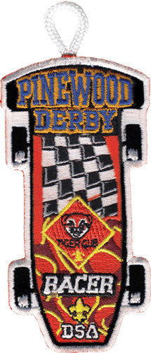 Tiger Cub Racer Patch - with Flag Design