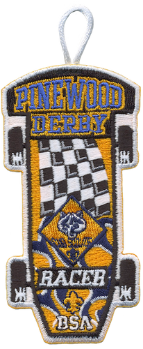 Cub Scout Racer Patch - with Flag Design