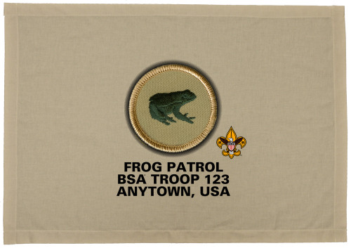 Scouts BSA Patrol Patch Flag with Frog Patrol Patch