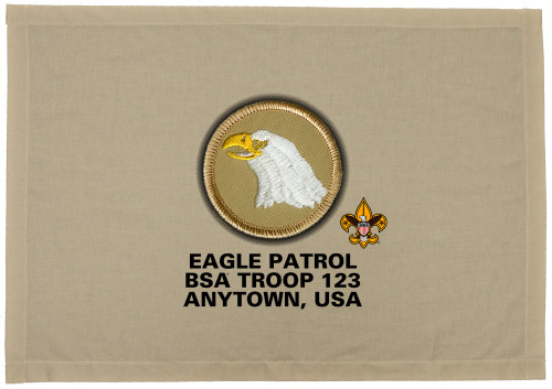 Scouts BSA Patrol Patch Flag with Eagle Patrol Patch