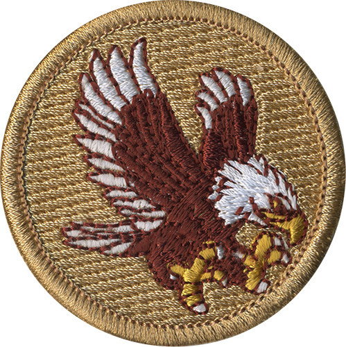 Premium Eagle Scout Patrol Patch - embroidered 2 inch round