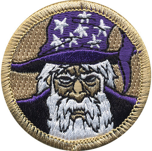Wizard Scout Patrol Patch - embroidered 2 inch round