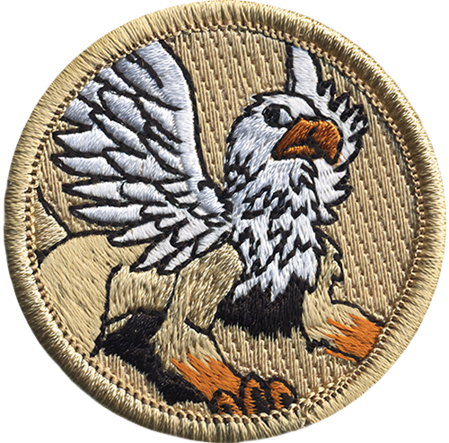 Griffin Scout Patrol Patch - embroidered 2 inch round