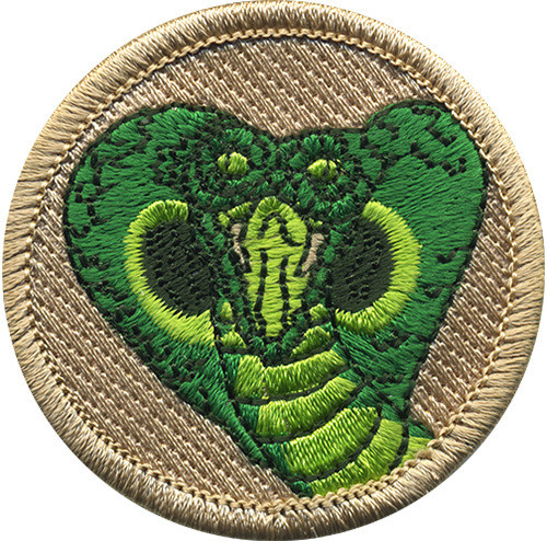 Cobra Scout Patrol Patch - embroidered 2 inch round