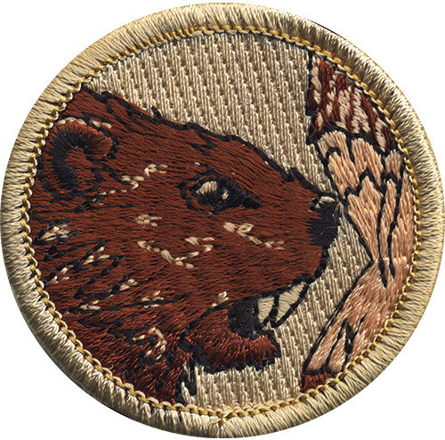 Beaver Scout Patrol Patch - embroidered 2 inch round