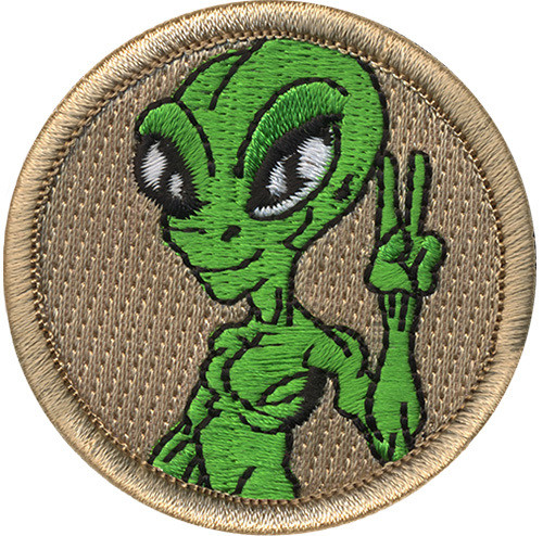 Alien Scout Patrol Patch - embroidered 2 inch round