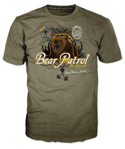 Custom Wood Badge Bear Patrol T-Shirt (SP3252)