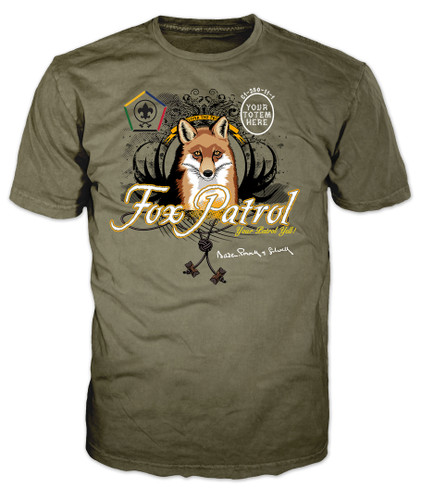 Custom Wood Badge Fox Patrol T-Shirt (SP3257)