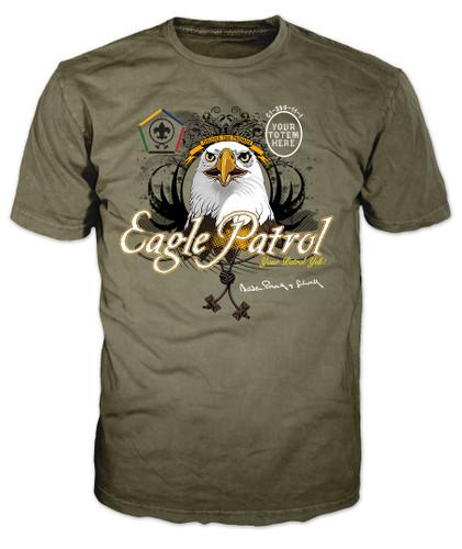 Wood Badge Shirt with Wood Badge Eagle Critter and Wood Badge Logo with Wood Badge Beads