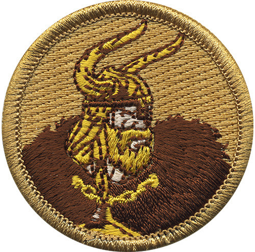Premium Viking Scout Patrol Patch - embroidered 2 inch round