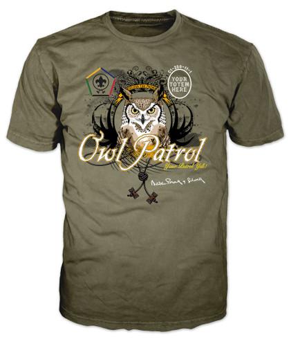 Custom Wood Badge Owl Patrol T-Shirt (SP3254)