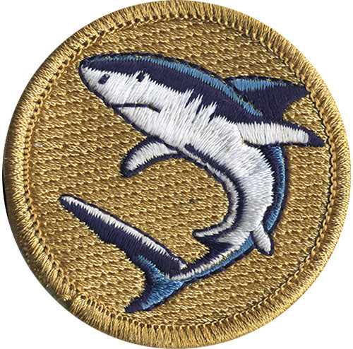 Premium Shark Scout Patrol Patch - embroidered 2 inch round