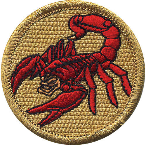 Premium Scorpion Scout Patrol Patch - embroidered 2 inch round