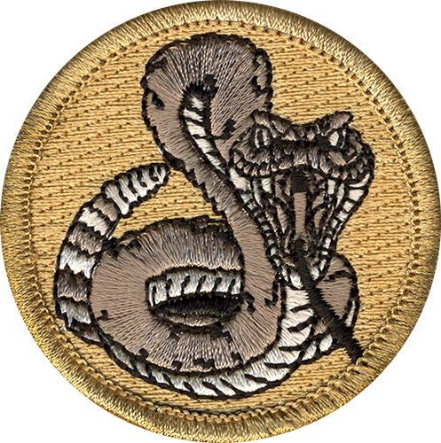 Premium Rattlesnake Scout Patrol Patch - embroidered 2 inch round