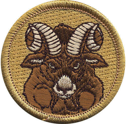 Premium Ram Scout Patrol Patch - embroidered 2 inch round
