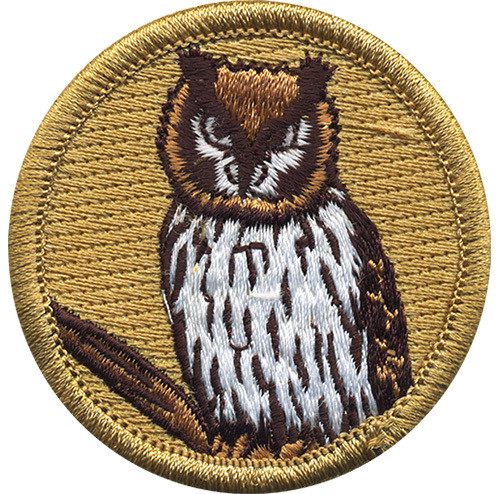Premium Owl Scout Patrol Patch - embroidered 2 inch round