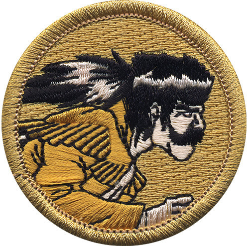 Premium Frontiersman Scout Patrol Patch - embroidered 2 inch round