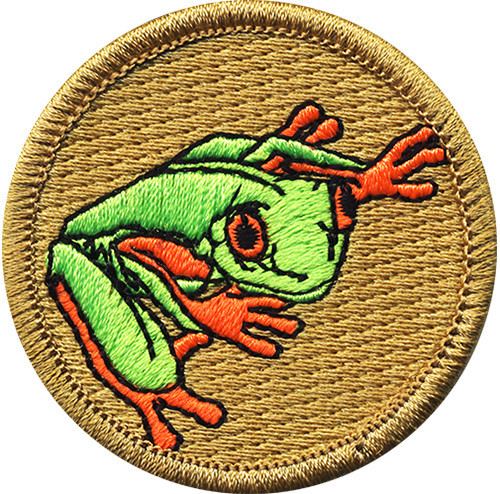 Premium Frog Scout Patrol Patch - embroidered 2 inch round