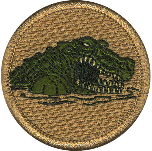Premium Gator Scout Patrol Patch - embroidered 2 inch round