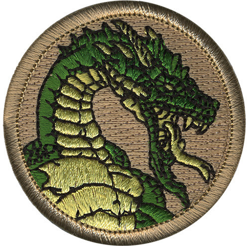 Premium Dragon Scout Patrol Patch - embroidered 2 inch round