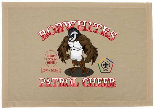 Custom Wood Badge Bobwhite Patrol Flag SP2943
