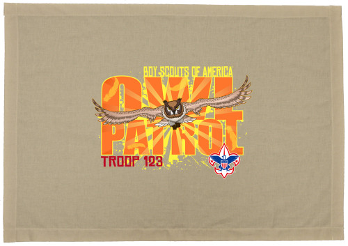 Scouts BSA Patrol Flag with Owl Patrol Design