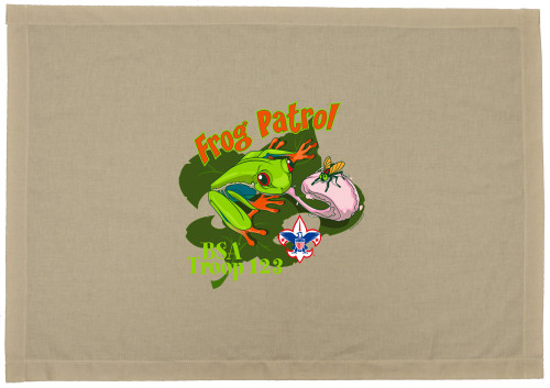 Scouts BSA Patrol Flag with Frog Patrol Design