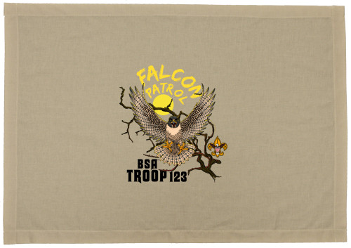 Scouts BSA Patrol Flag with Falcon Patrol Design