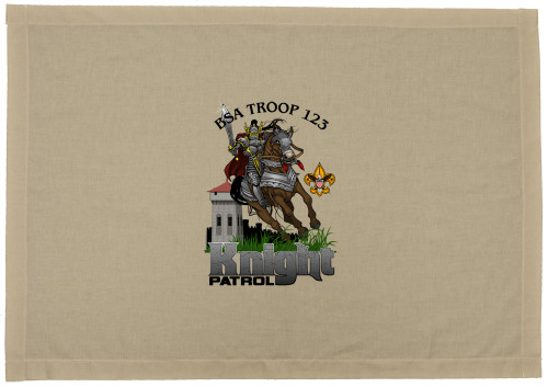 Scouts BSA Patrol Flag with Knight on Horse Patrol Design