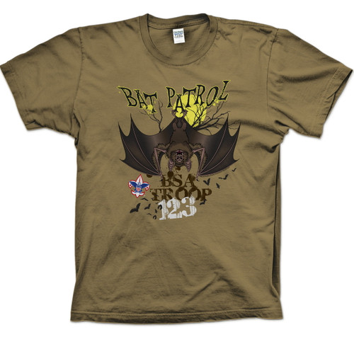 Scouts BSA Patrol Shirt with Bat Patrol