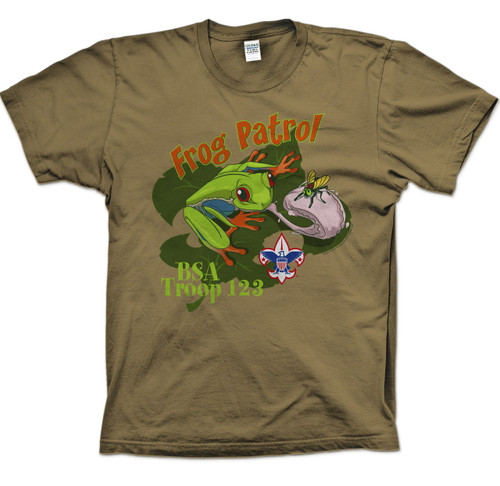 Scouts BSA Patrol Shirt with Frog Patrol