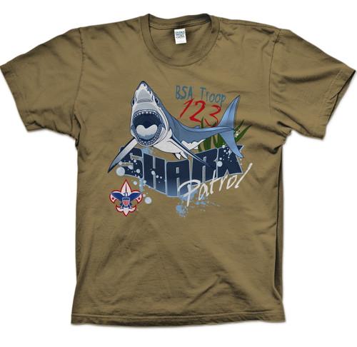 Scouts BSA Patrol Shirt with Shark Patrol Design