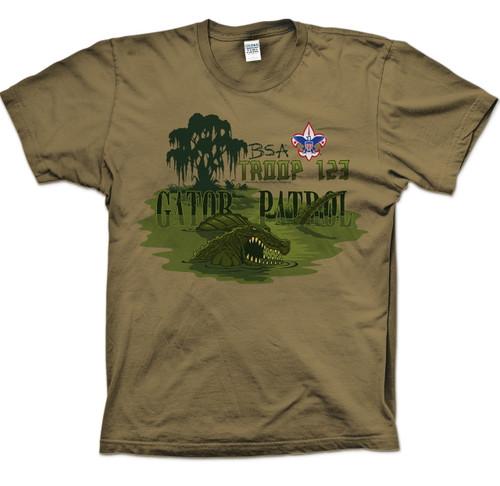 Scouts BSA Patrol Shirts with Gator Patrol Design
