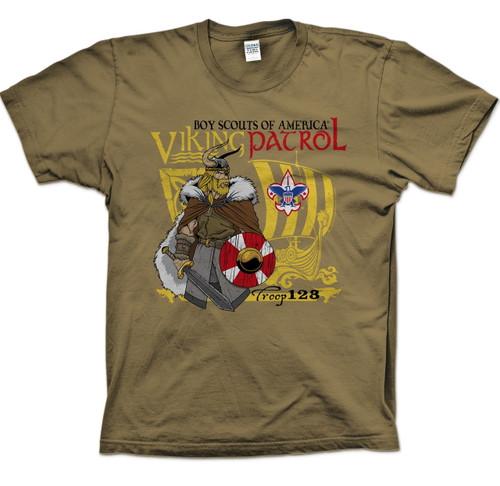 Scouts BSA Patrol Shirts with Viking Patrol Design