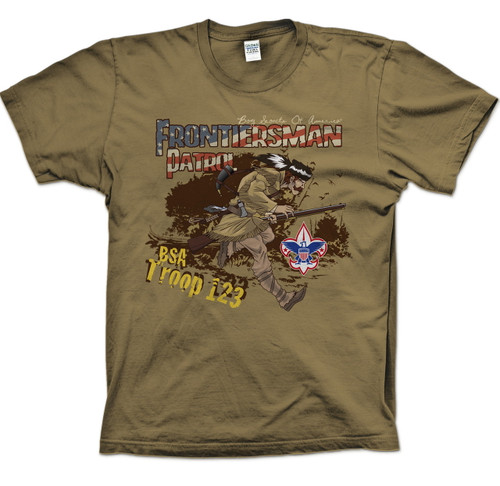 Scouts BSA Patrol Shirts with Frontiersman Patrol Design
