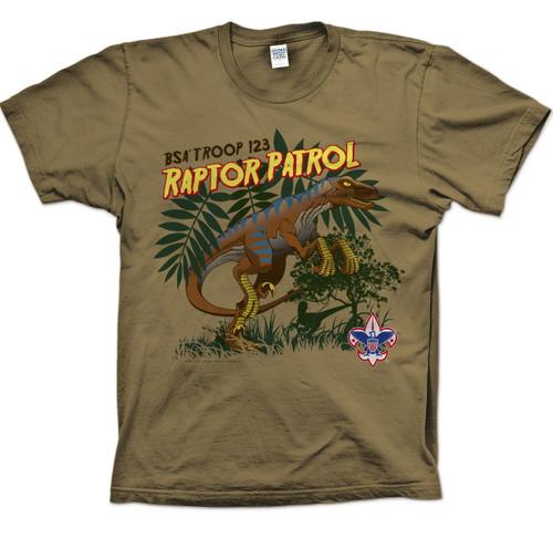 Scouts BSA Patrol Shirt with Raptor Patrol Design