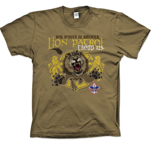 Scouts BSA Patrol Shirt with Lion Patrol Design